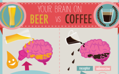 Your Brain on Coffee vs Beer [INFOGRAPHIC]