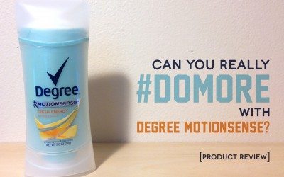 Product Review: Degree MOTIONSENSE Antiperspirant & Deodorant