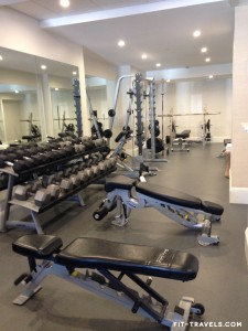 Freeweight area in The Nantucket Club fitness center