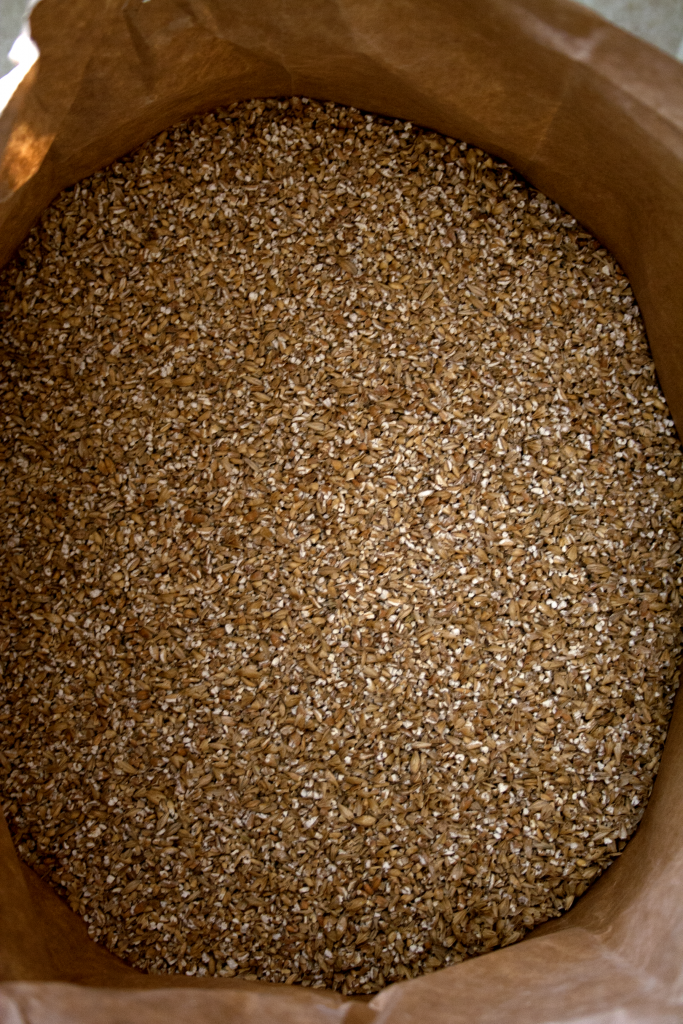 Malt blend to be used in a blueberry amber ale