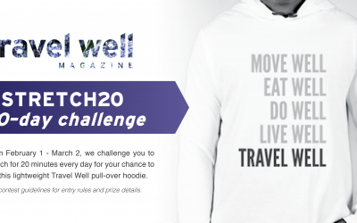 WIN a Limited-Edition Travel Well Hoodie in our #Stretch20 30-Day Challenge