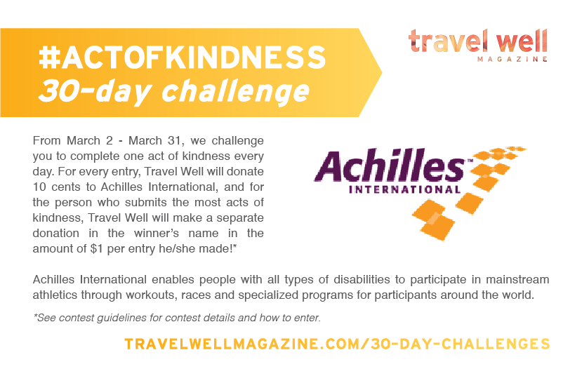 Kind for a Cause: Take Our #ActofKindness 30-Day Challenge and We'll Donate to Achilles International
