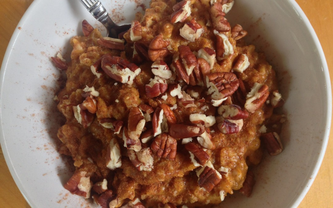 Fall in a Bowl: Pumpkin Pecan Oatmeal