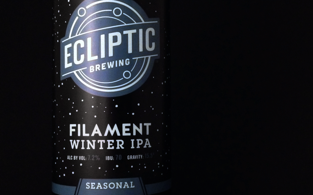 Beer of the Week 2/15/16: Ecliptic Brewing Filament Winter IPA